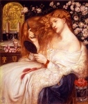 Lady Lilith by Dante Gabriel Rossetti of the Pre-Raphaelite Brotherhood