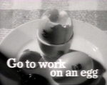 U.K. Egg Marketing Board. Ad from 1950s