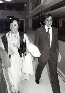 Jean and Bob arriving at Gare du Nord, Paris, for a conference