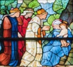 Detail of Nativity Window. Trinity Church, Boston. Edward Byrne-Jones