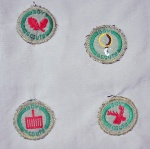 Boy Scout Stalker badge (bottom right)