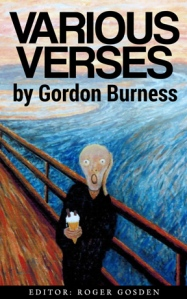 "Book cover from Gordon's painting titled ""Ice Cream"" after Edvard Munch's ""I Scream"""