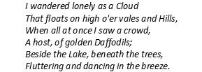 Daffodils stanza 1