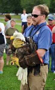 Vet with eagle-small
