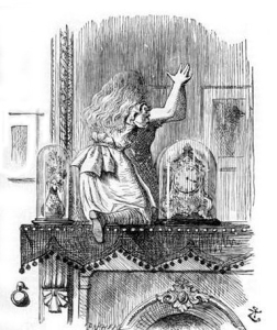 Through the Looking Glass. Picture by John Tenniel (1871) in public domain