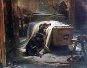 Old Shepherd's Chief Mourner by Landseer (1837). V & A, London [public domain]