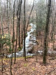 Stream and waterfall in West Virginia Allegheny Mountains