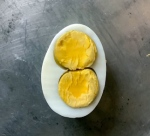 Chicken egg with double yolk
